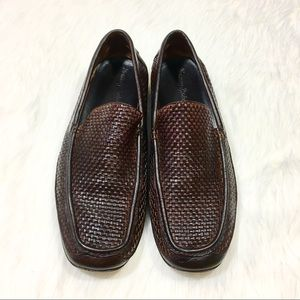 Tommy Bahama Naples Woven Leather Loafers 11.5